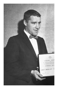 1959:  Harold Balazs wins the craftsmanship award of the Spokane chapter of the American Institute of Architects.