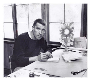 Harold being creative in his studio - 1966