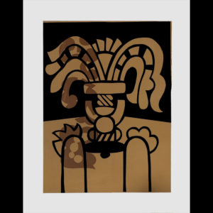 """Harold Balazs ART - Vase with Wilted Flowers - Silk screen print on paper - 29"""" x 25"""" - ca.80's"""