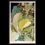 """Harold-Balazs-ART The Hillside - Print - Watercolor - 30""""x22"""" - ca.70's"""