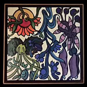 "Harold-Balazs-ART - Flowers Untitled - Enamel - 18""x18"" - 80's"