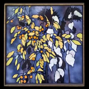 "Harold-Balazs-ART Untitled Stalks - Enamel - 22""x22""- ca 80's"