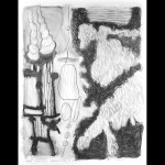 "Harold-Balazs-ART Two Things Regarding a Third - Charcoal on Paper - 47""x36-5/8"" - 1998"